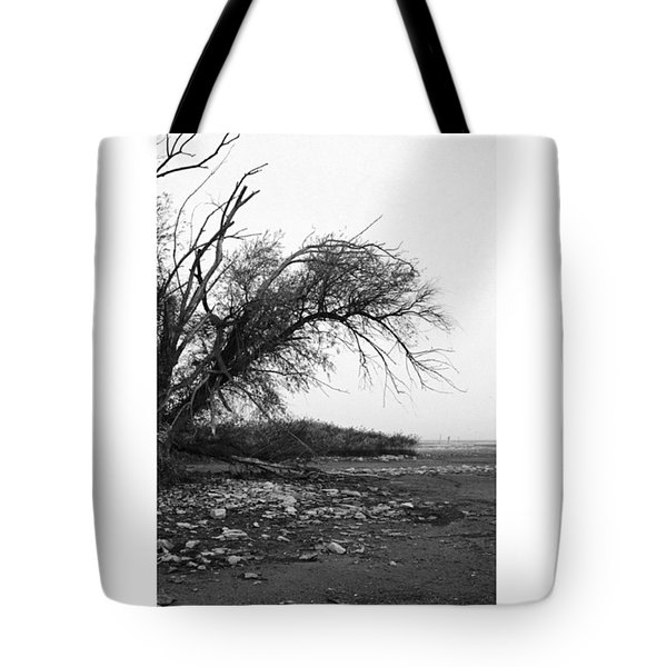 #monochrome #lake #landscape  #stausee Tote Bag