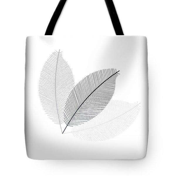 Monochrome Leaves Tote Bag