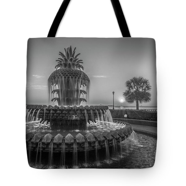 Monochrome Pineapple Tote Bag