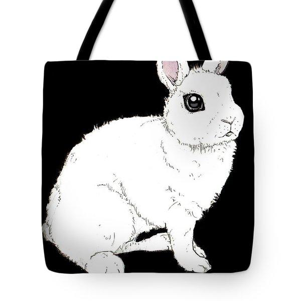 Monochrome Rabbit Tote Bag