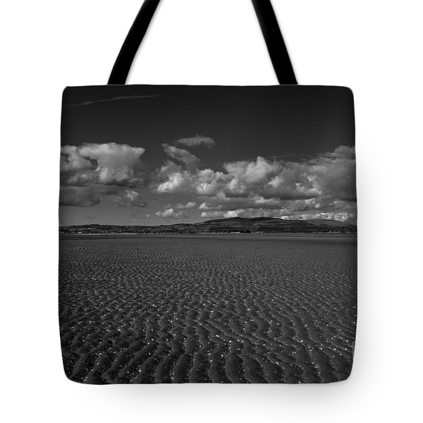 Monochrome Sand Ripples Tote Bag