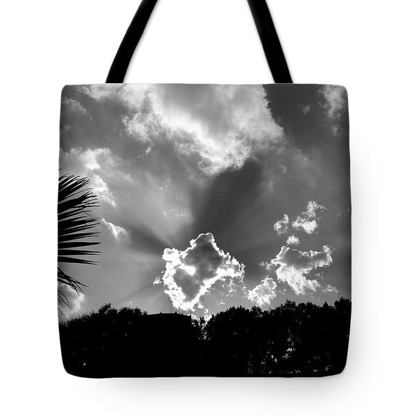 Monochrome Sunburst Tote Bag by Eric Liller
