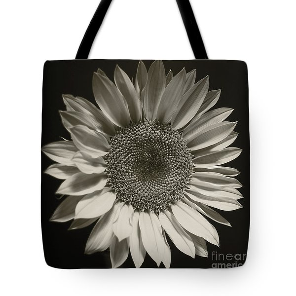 Monochrome Sunflower Tote Bag