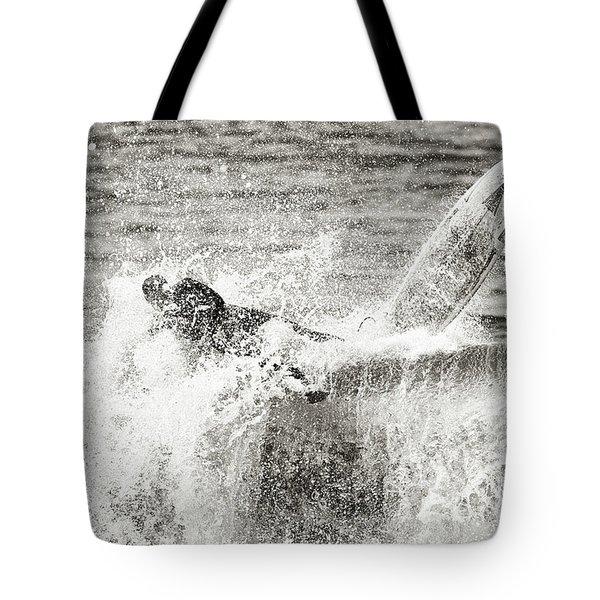 Monochrome Wipeout Tote Bag by Nicholas Burningham