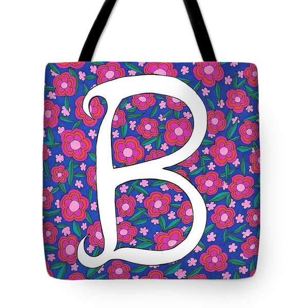 Monogram B Tote Bag