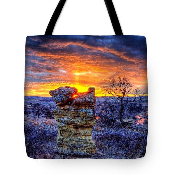 Monolithic Sunrise Tote Bag
