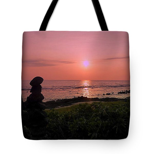 Tote Bag featuring the photograph Monoliths At Sunset by Lori Seaman