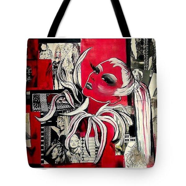 Monroe And Bardot Collage Tote Bag