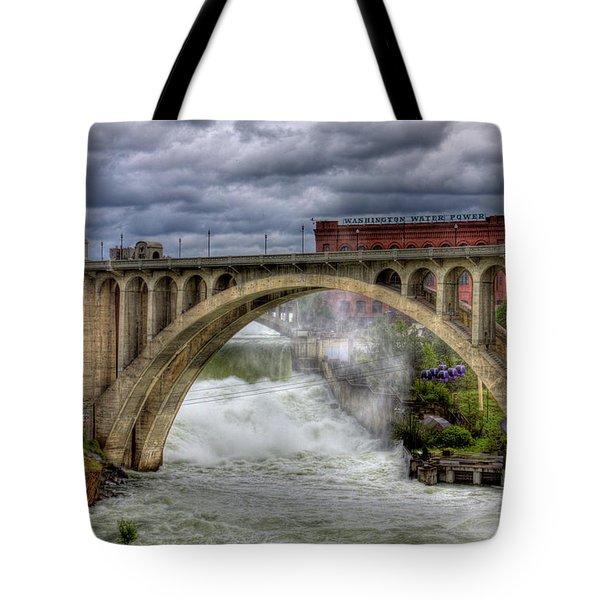 Monroe Street Bridge Spokane Tote Bag