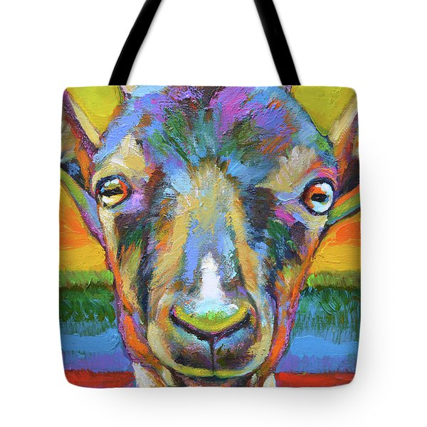 Tote Bag featuring the painting Monsieur Goat by Robert Phelps