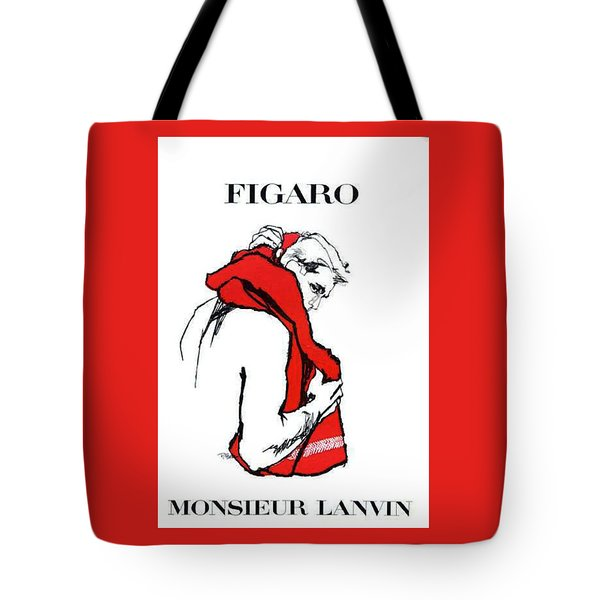 Tote Bag featuring the digital art Monsieur by Kim Kent