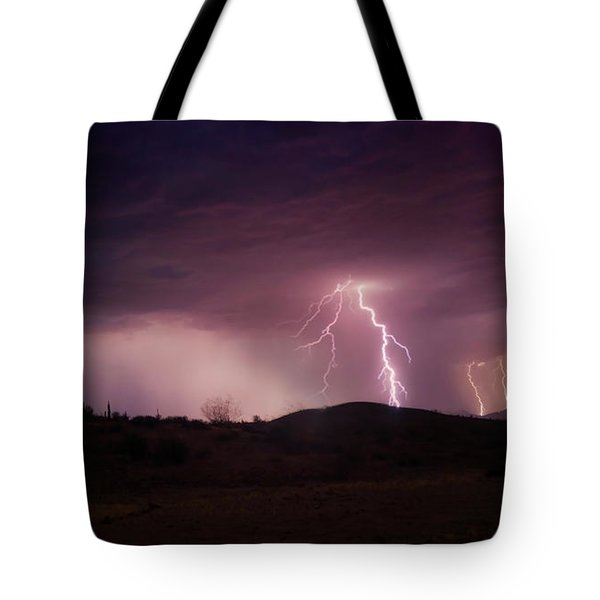 Tote Bag featuring the photograph Monsoon Lightning by Anthony Citro