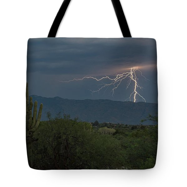 Tote Bag featuring the photograph Monsoon Lightning by Dan McManus