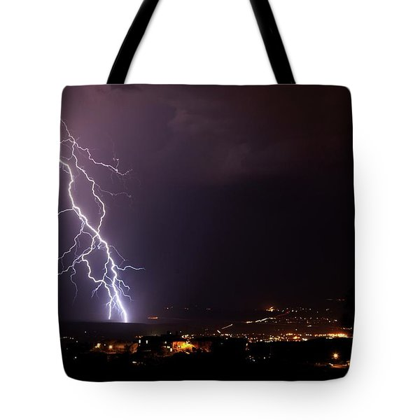 Monsoon Storm Tote Bag by Ron Chilston
