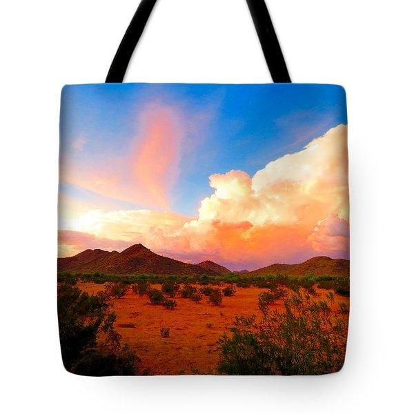 Monsoon Storm Sunset Tote Bag