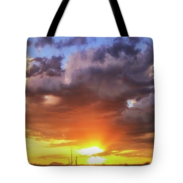 Tote Bag featuring the photograph Monsoon Sunset by Anthony Citro