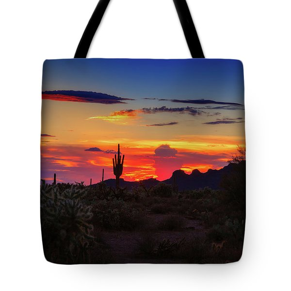 Tote Bag featuring the photograph Monsoon Sunset by Rick Furmanek