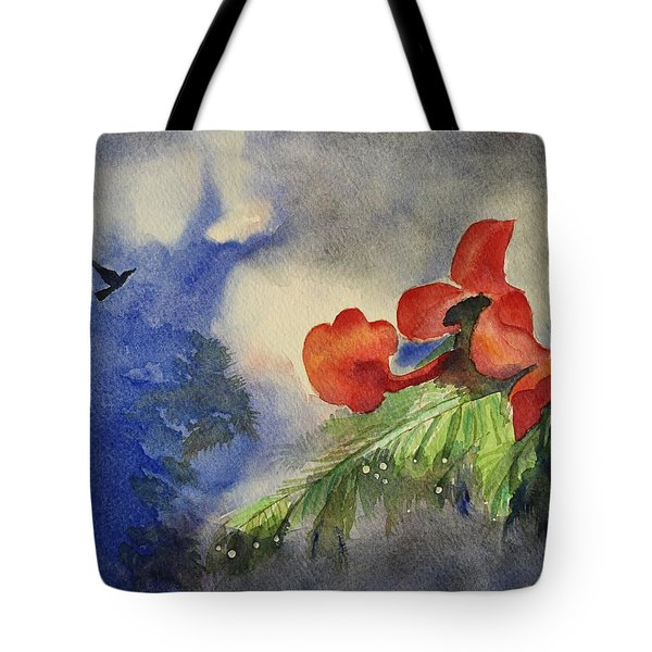 Tote Bag featuring the painting Monsoons  by Geeta Biswas