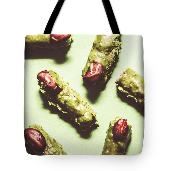 Monster Fingers Halloween Candy Tote Bag