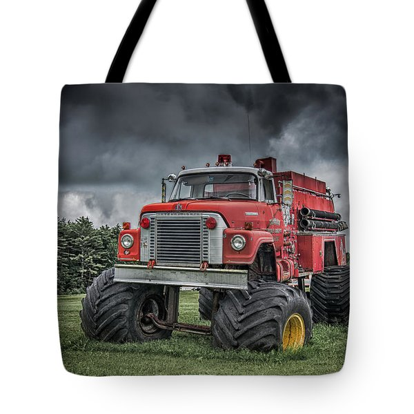 Tote Bag featuring the photograph Monster Fire Truck by Guy Whiteley