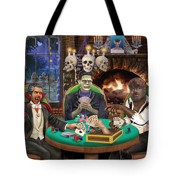 Monster Poker Tote Bag by Glenn Holbrook