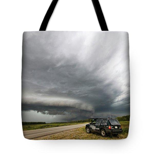 Monster Storm Near Yorkton Sk Tote Bag