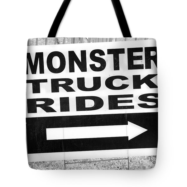 Tote Bag featuring the photograph Monster Truck Rides by Colleen Williams