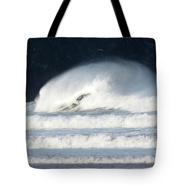 Monster Wave Tote Bag by Nicholas Burningham