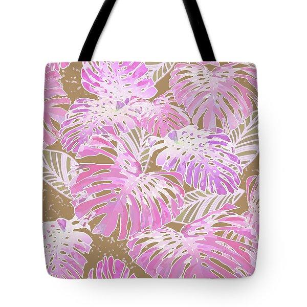 Monstera Jungle On Iced Coffee Tote Bag