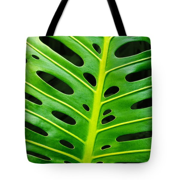 Monstera Leaf Tote Bag by Carlos Caetano