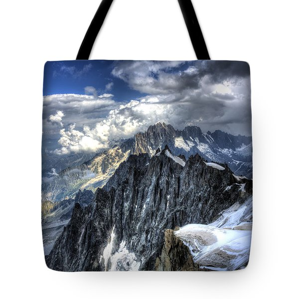 Mont Blanc Near Chamonix In French Alps Tote Bag