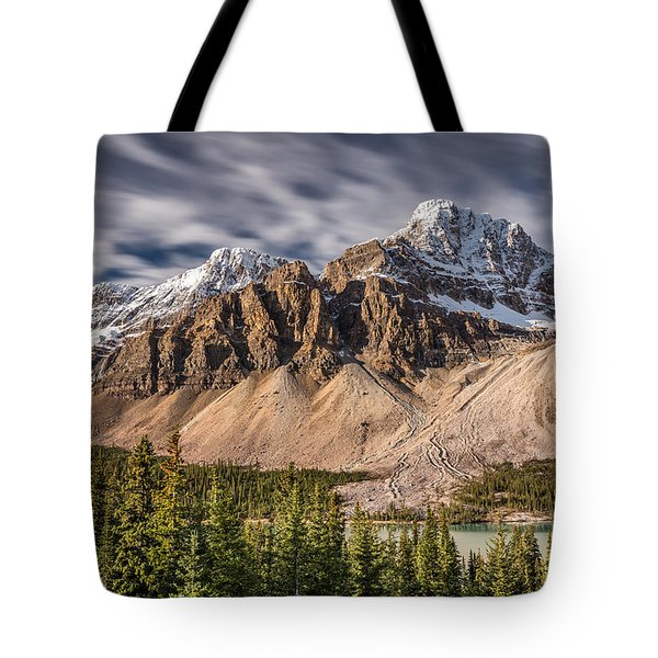 Mont Crowfoot On The Icefield Parkway Tote Bag
