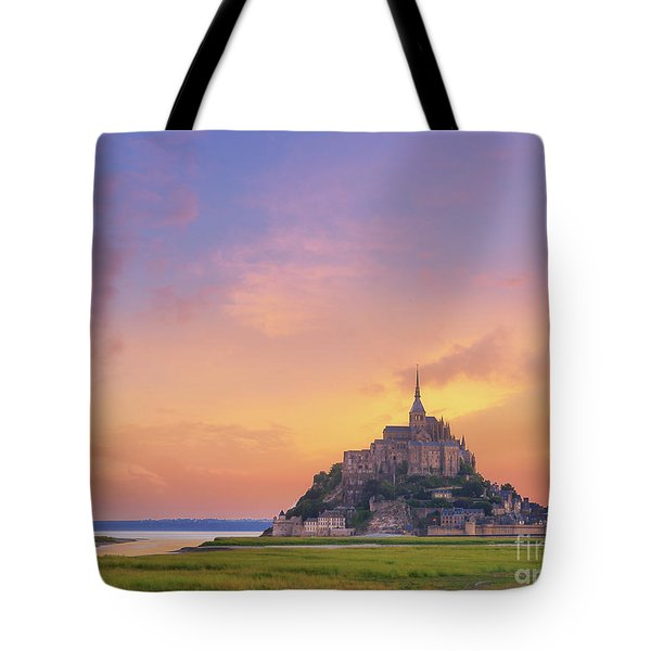 Mont-saint-michel At Dawn Tote Bag