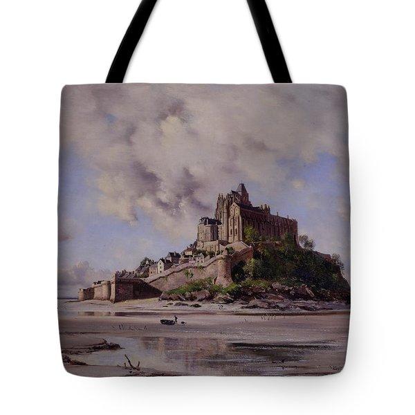 Mont Saint Michel Tote Bag by Emmanuel Lansyer