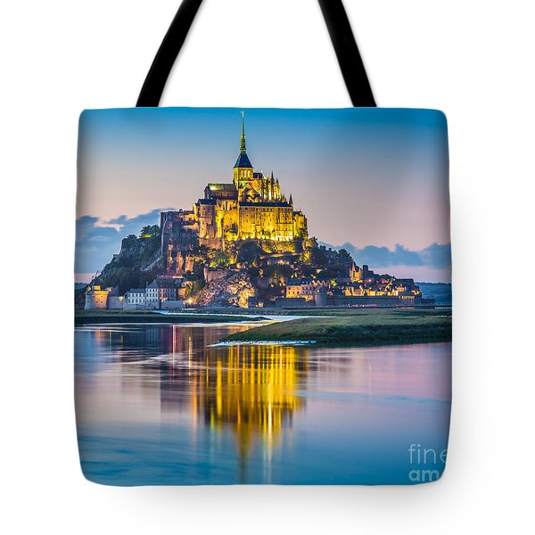 Mont Saint-michel In Twilight Tote Bag