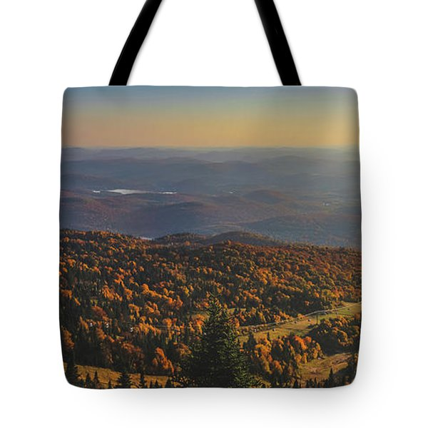 Mont Tremblant Summit Panorama Tote Bag