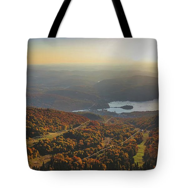 Tote Bag featuring the photograph Mont Tremblant Summit Panorama by Andy Konieczny