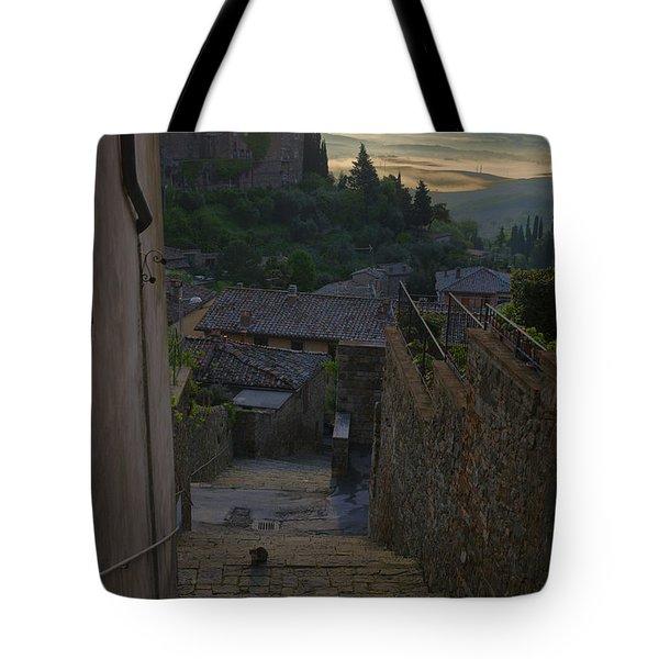 Montalcino City Tote Bag by Yuri Santin
