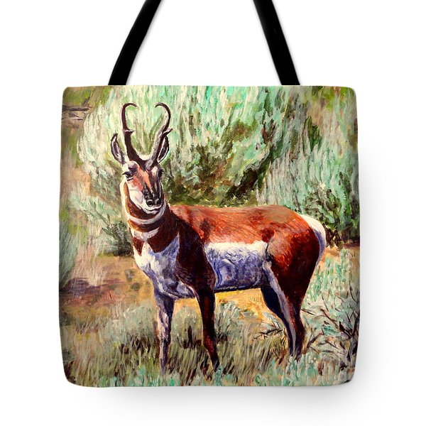 Montana Antelope Buck  Tote Bag