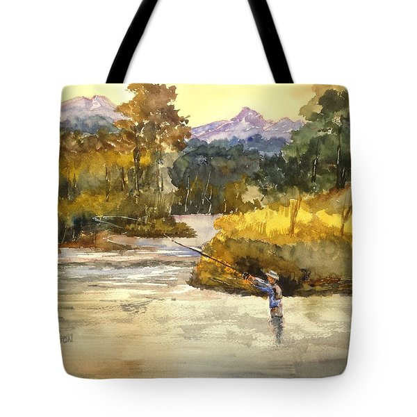 Montana Fly Fishing Tote Bag