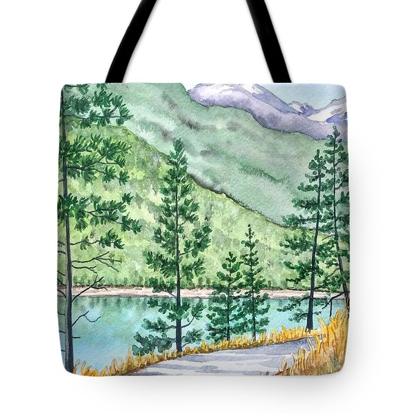 Montana - Lake Como Series Tote Bag