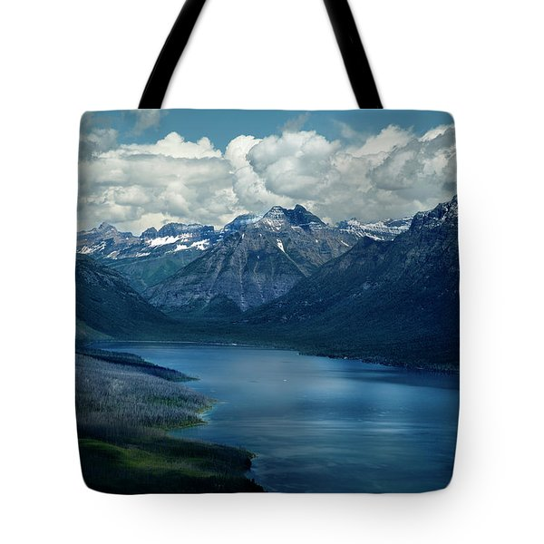 Montana Mountain Vista And Lake Tote Bag