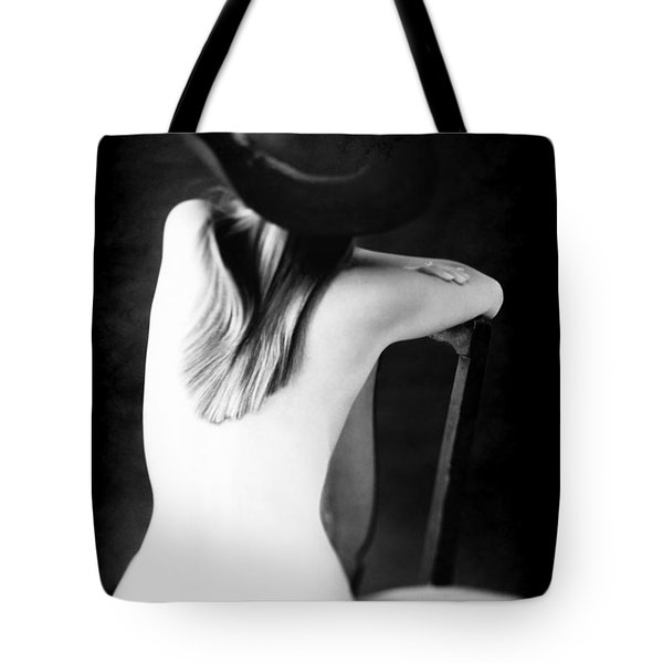 Tote Bag featuring the photograph Montana Mule Kick Nude  by Jennifer Wright