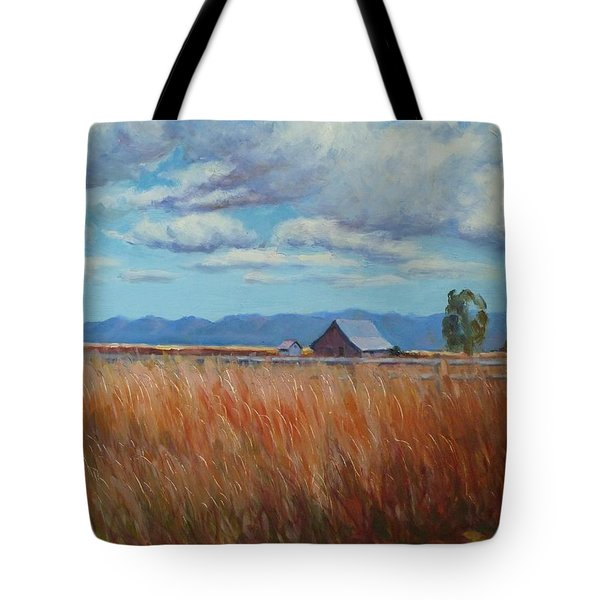 Montana Prairie In The Fall Tote Bag