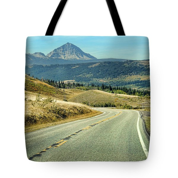 Montana Road Tote Bag by Jill Battaglia