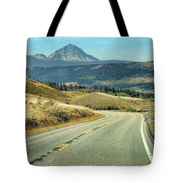 Tote Bag featuring the photograph Montana Road by Jill Battaglia