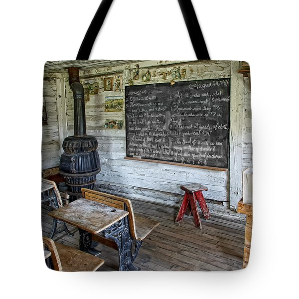Montana School Lesson August 29 1864 Tote Bag by Daniel Hagerman