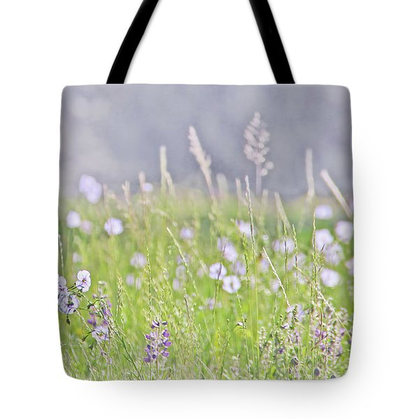 Tote Bag featuring the photograph Montana Wildflowers Lavender by Jennie Marie Schell