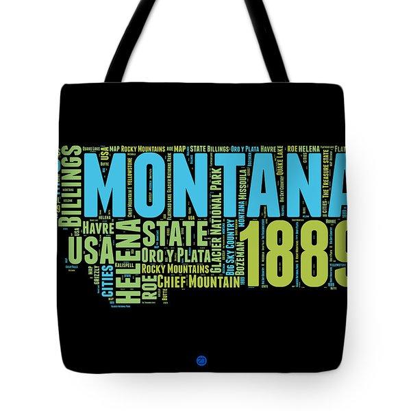 Montana Word Cloud 1 Tote Bag