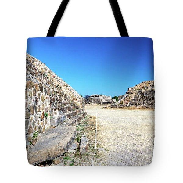 Monte Alban Temples Tote Bag